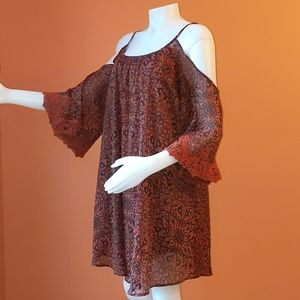Boho dress lace sleeves